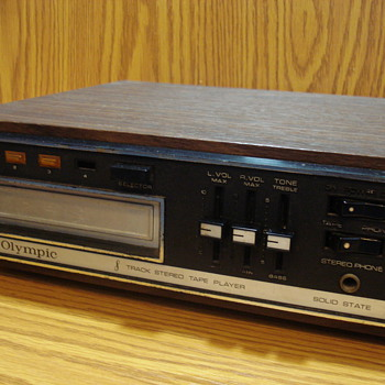 Olympic 8 Track Stereo Tape Player Solid State - Electronics