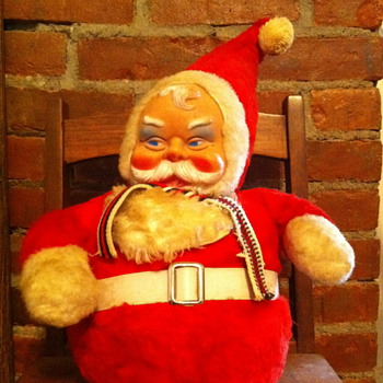 Vintage plush santa by Bijou Toys Inc. NYC - Christmas