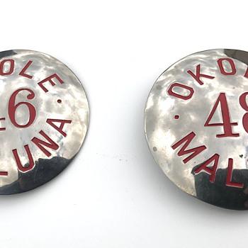 Hawaiian Pins, Okole Maluna - Medals Pins and Badges