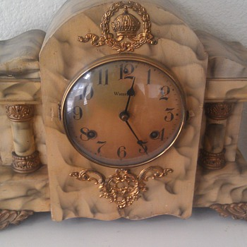 Antique Waterbury 8 Day Mantel Clock