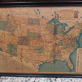 ESSO Vintage Advertising US Map - Paper