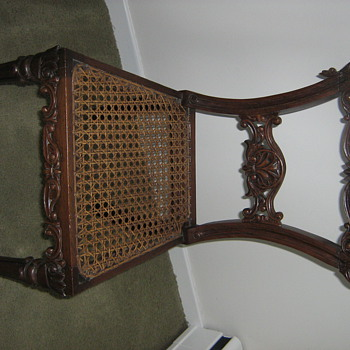 Antique:  Beautifully Carved Wooden Chair - from a Sailor under Captain John Wilfred Carter.