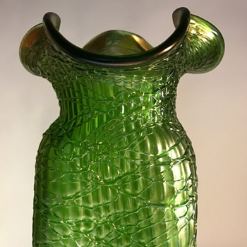 Monumental Loetz Crete Chiné PN I-7302  - Art Glass
