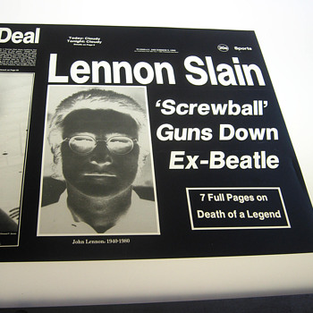 John Lennon / Beatles item, historically significant yet tragically sad... - Music Memorabilia