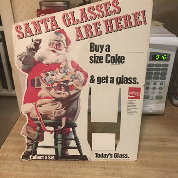 Santa Claus Coca cola glass stand - Coca-Cola