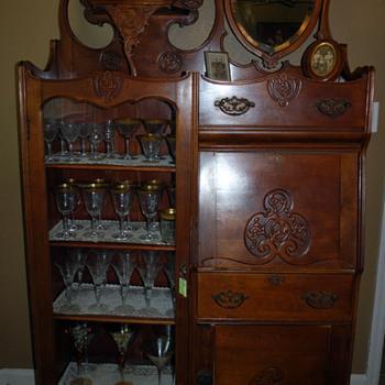 Mahogany secretary cabinet - Furniture