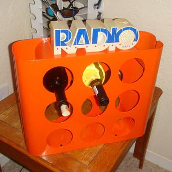 Retro Orange Wine Rack