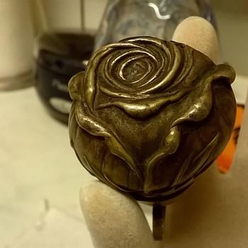 Very Unusual Rosebud Bronze Or Brass Bell, Flea Market Find, 20 Cents!!