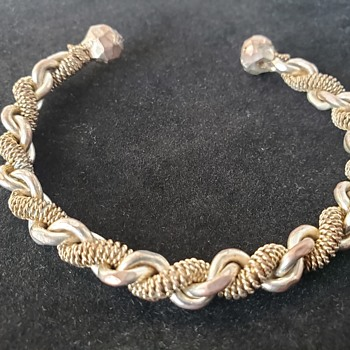 Interesting twist cuff bracelet  - Costume Jewelry