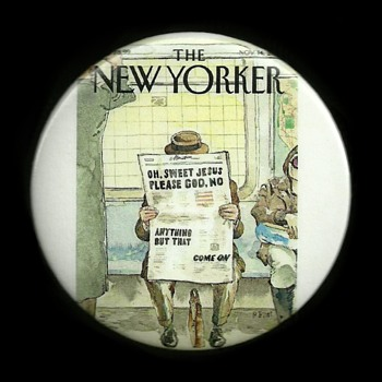 Nov 14 2016 The New Yorker Pinback Button
