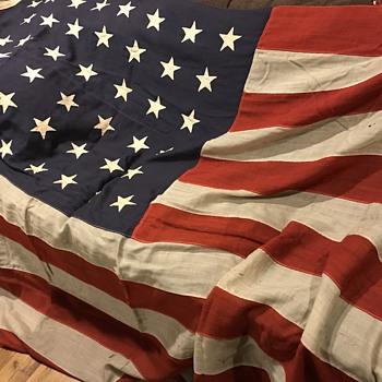 Vintage 44 Star Flag Estate of ElISHA BAYLES  /Chandler house Port Jefferson Long Island - Military and Wartime