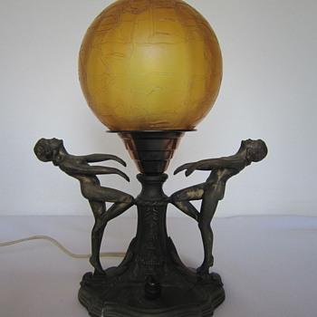 Pin Up Girls Bronze Lamp