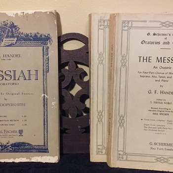 two editions of the complete vocal score for THE MESSIAH by G. F. Handel - Books