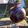 Small, Chunky Mdina Lustre Studio Glass Bud Vase, Flea Market Find 2 Euro ($2.14)