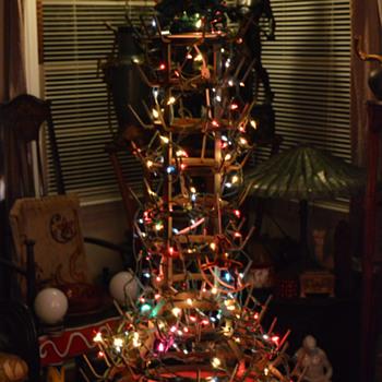 HAVE A MERRY DADA XMAS! Art Nouveau Bottle Rack 1914 as a tree. - Art Nouveau
