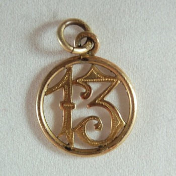 Lucky 13 charm with unusual hallmarks - Costume Jewelry