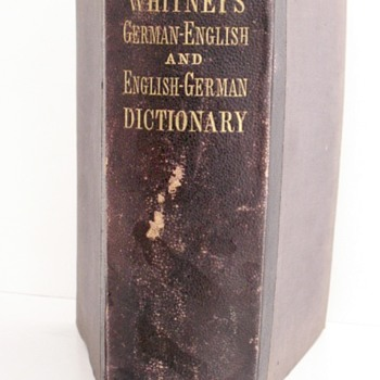 1877 Whitney's Dictionary - Books