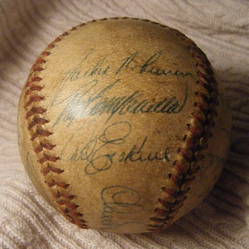 1948 Dodgers Team Ball - Baseball