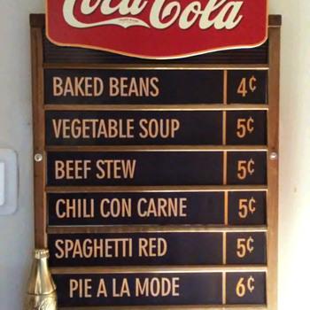 Updated Coke Menu Board Sign....   - Coca-Cola