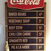 Updated Coke Menu Board Sign....