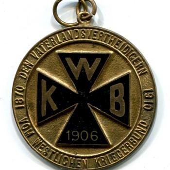 Westlichen Kriegerbund Medal - Military and Wartime