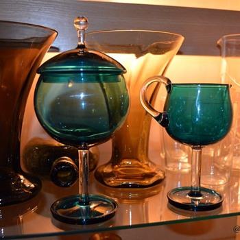 Harlekiini by Nanny Still (Riihimäen Lasi Oy 1959) - Art Glass