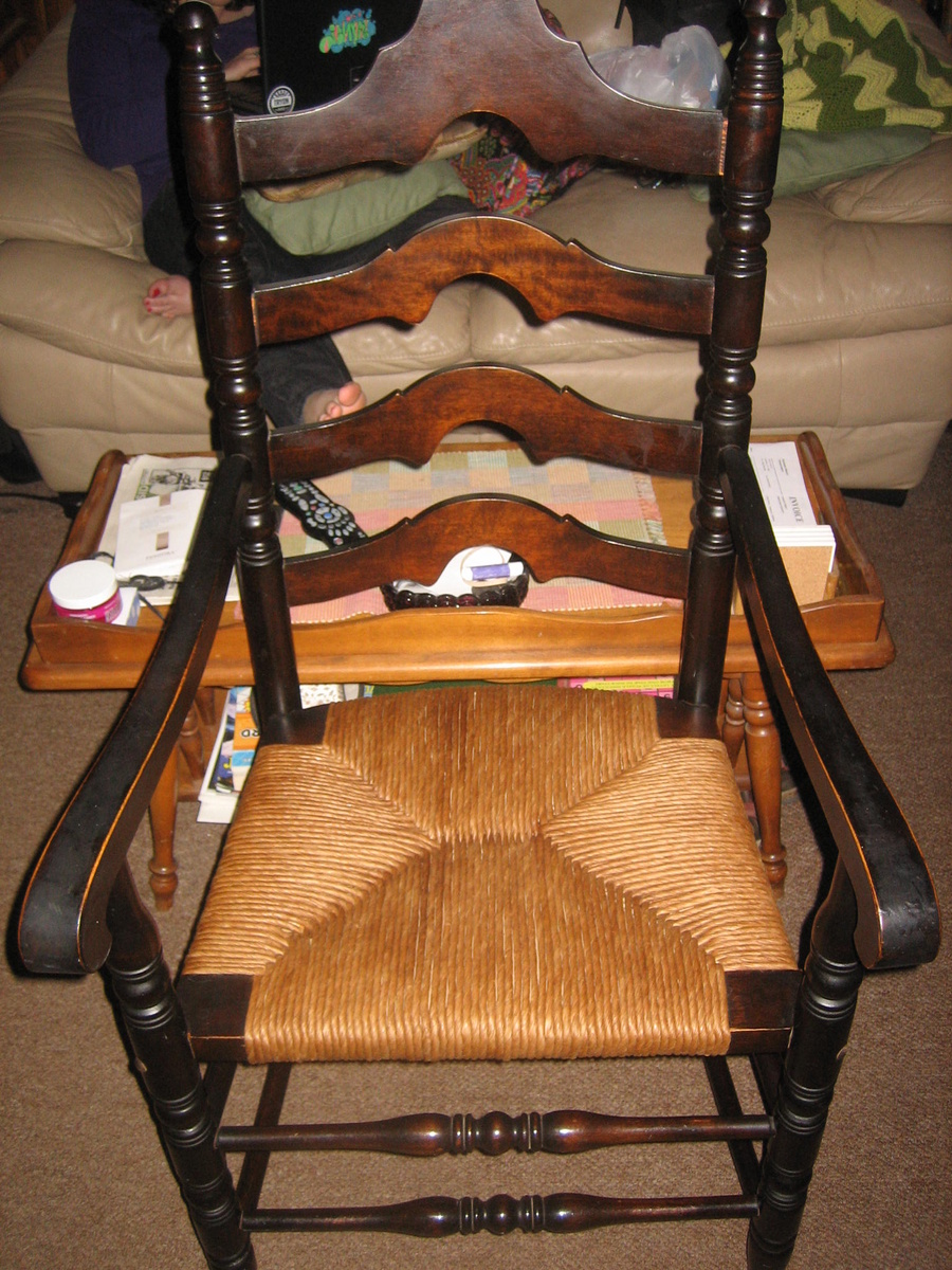 Ladder Back Armchair With Fiber Rush Seat Collectors Weekly
