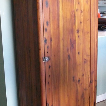 Klein Bros of Long Island City, NY .. Tall Cedar Pantry Chest - Furniture
