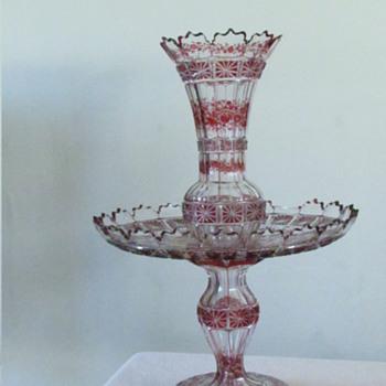 3 Tier glass vase - Glassware