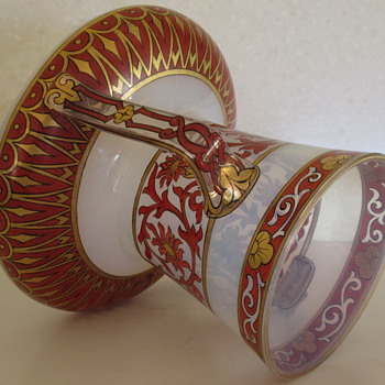 FRITZ HECKERT GLASS VASE c1895 - Art Glass