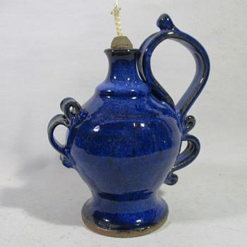 Stoneware Oil Lamp - Pottery