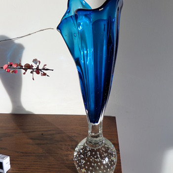 My 'interesting' Vase Paperweight  - Art Glass