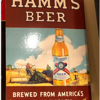 Never seen before Hamms sign  - Breweriana