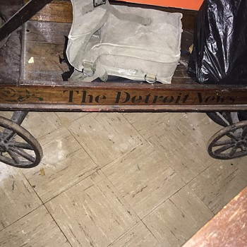 Late 1800's early 1900's Detroit News Wagon - Paper