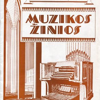 Muzikos Žinios September, 1936, Chicago - Music Memorabilia