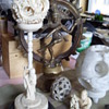 Antique Chinese Elephant Ivory Carving Dragon Puzzle Ball