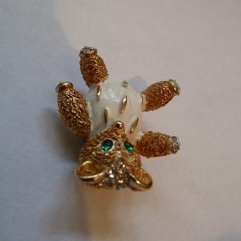 Crown Trifari Teddy Bear  - Costume Jewelry