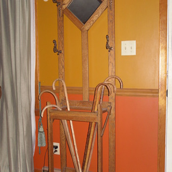 Oak Hall Tree - Furniture