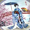 beautiful Japanese  Geisha?  Plate