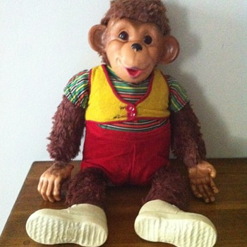 Vintage Rubber Faced Stuffed Monkey 1950's? - Animals