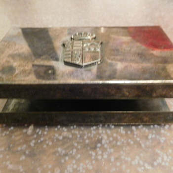 Silver or Silverplate Matchbox Cover- Help Identify Hallmarks / Stamp - Silver