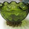 Vtg Green Footed Bowl
