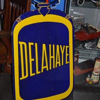 delahaye porcelain sign - Advertising