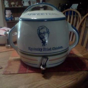 Louisville Stoneware - KFC Unsweetened Ice Tea Dispenser