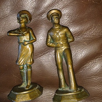 1927 bronze salt & pepper shakers - Kitchen