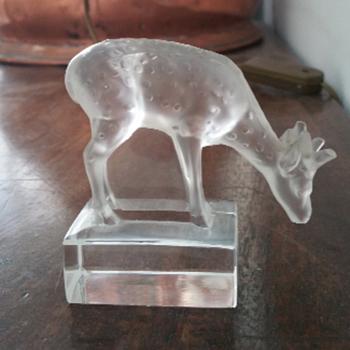 Lalique Glass Deer
