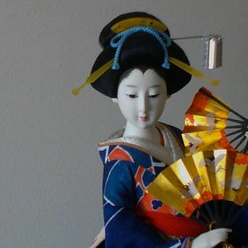 Plum motiff fan dancer - Dolls