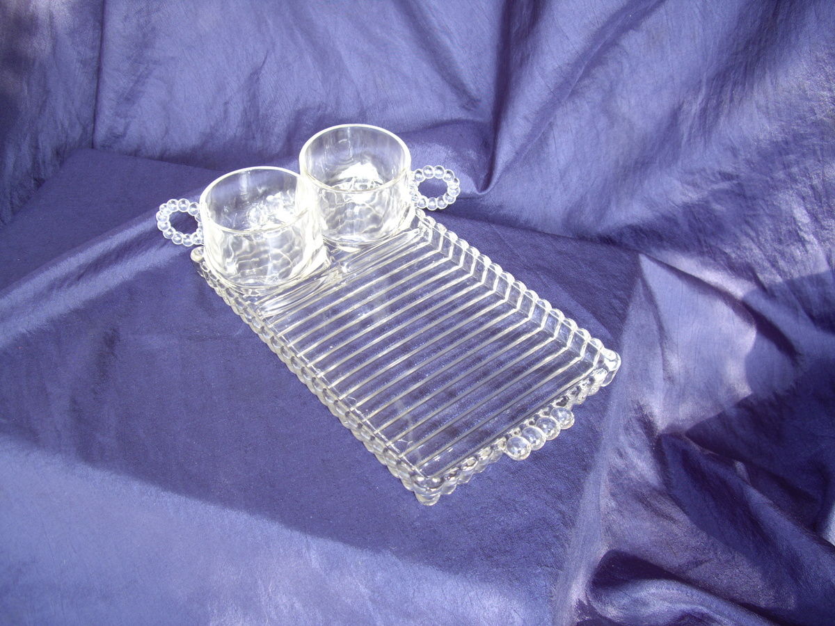 Imperial Candlewick Glass Snack Trays with Cups | Collectors Weekly