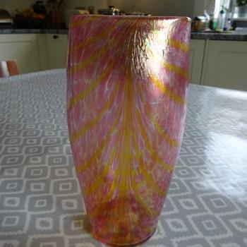 FRITZ HECKERT vase form number TH61, c.1902-3 (Otto Thamm design) - Art Glass