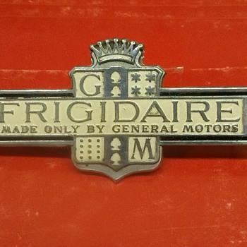 Vintage Frigidaire emblem mid 1930's - Advertising